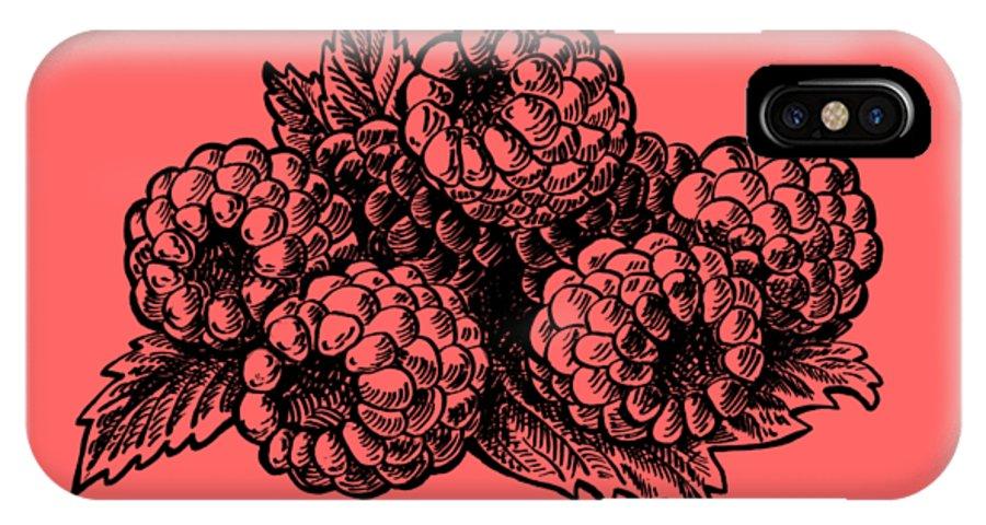 Raspberries IPhone X Case featuring the painting Raspberries Image by Irina Sztukowski