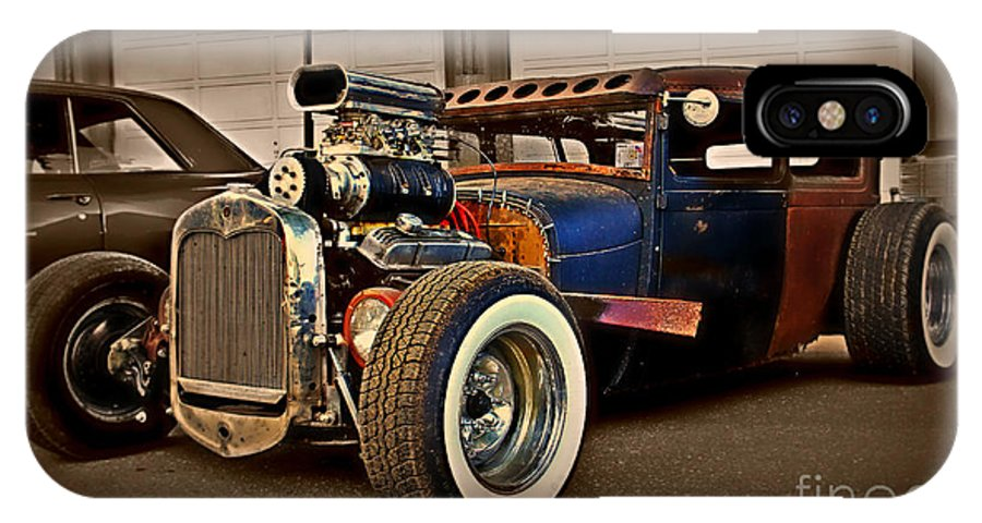 Rat Rod IPhone X Case featuring the photograph Rat Rod Scene 2 by Perry Webster