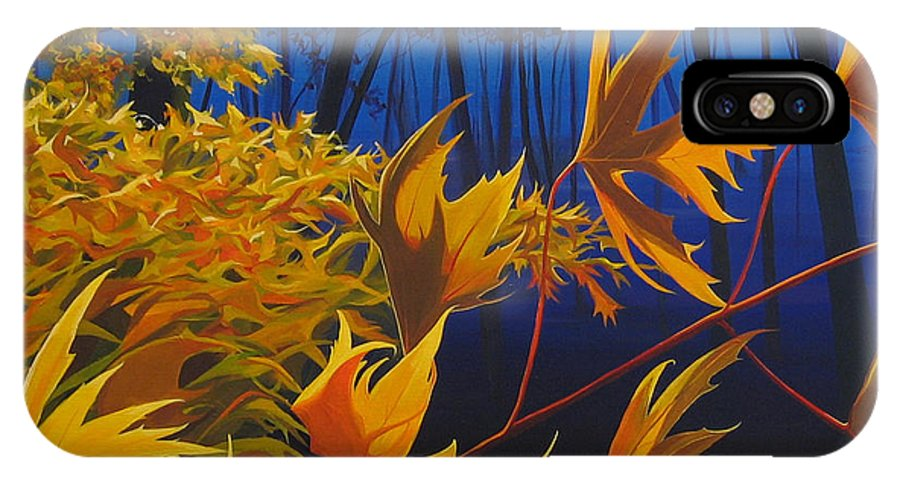 Autumn Leaves IPhone X Case featuring the painting Raucous October by Hunter Jay