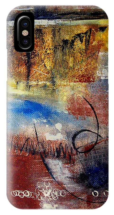 Abstract IPhone X / XS Case featuring the painting Raw Emotions by Ruth Palmer