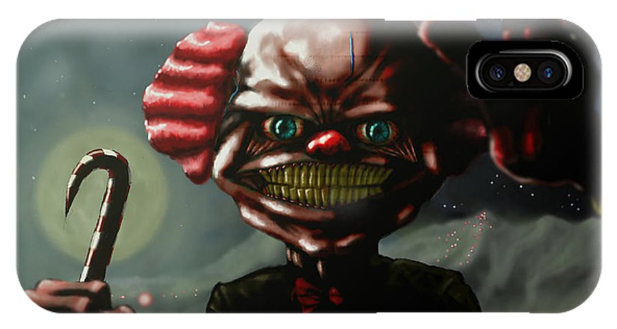 Clowns IPhone X Case featuring the painting Rawboned Zusman by Eric Mark Thompson