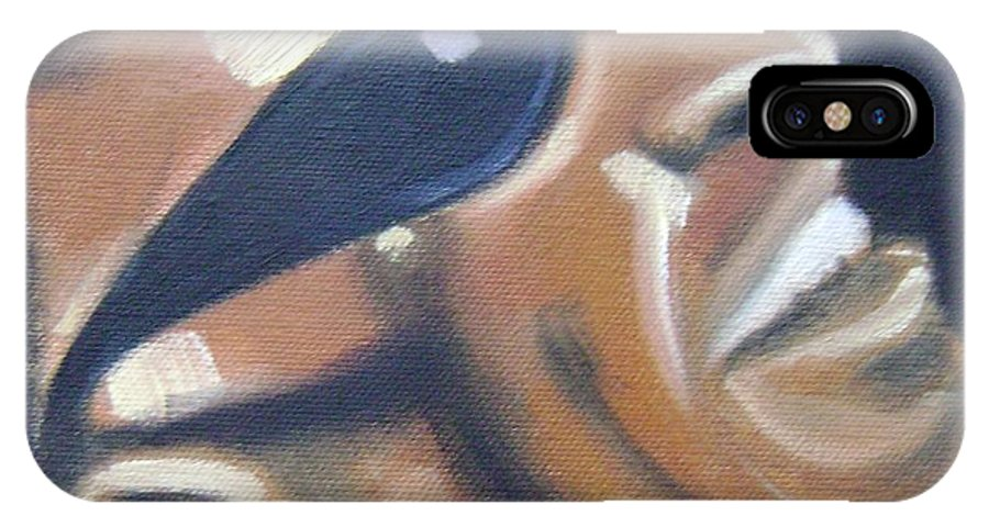 Ray Charles IPhone X Case featuring the painting Ray Charles by Toni Berry