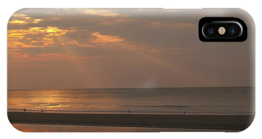 Sunrise IPhone X Case featuring the photograph Rays Of Dawn At Hunting Island by Anna Lisa Yoder
