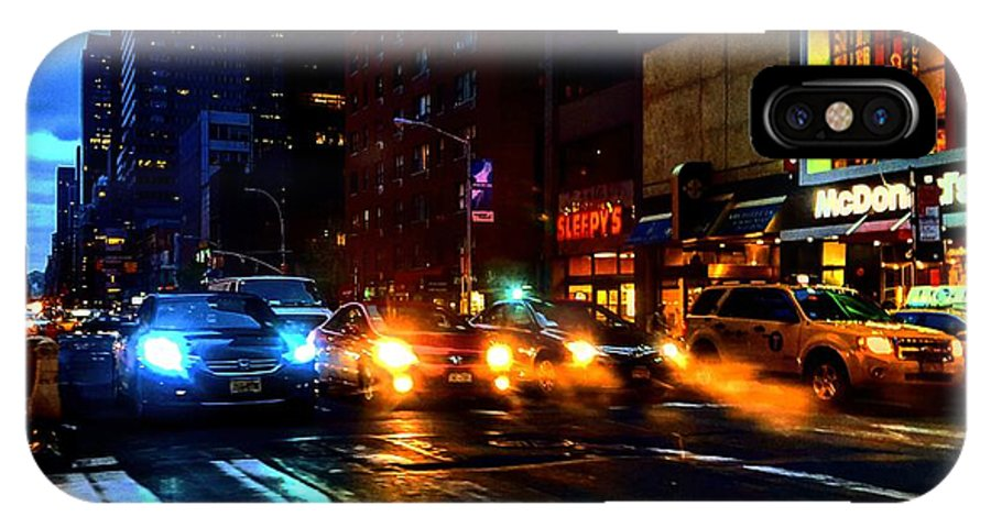 Nyc IPhone X Case featuring the photograph Ready, Set, Go by Malcolm Virgil