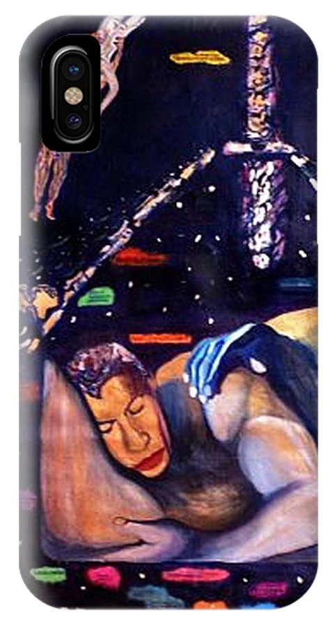 Nudes IPhone X Case featuring the painting Realities Which Will Be Artifacts by Stephen Mead