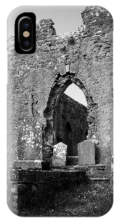 Ireland IPhone Case featuring the photograph Rear Entrance Fuerty Church Roscommon Ireland by Teresa Mucha