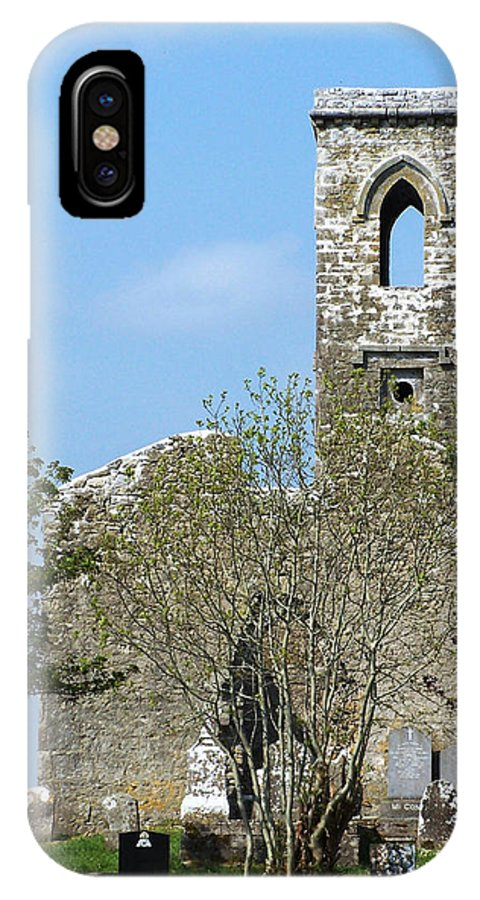 Fuerty IPhone X Case featuring the photograph Rear View Fuerty Church And Cemetery Roscommon Ireland by Teresa Mucha
