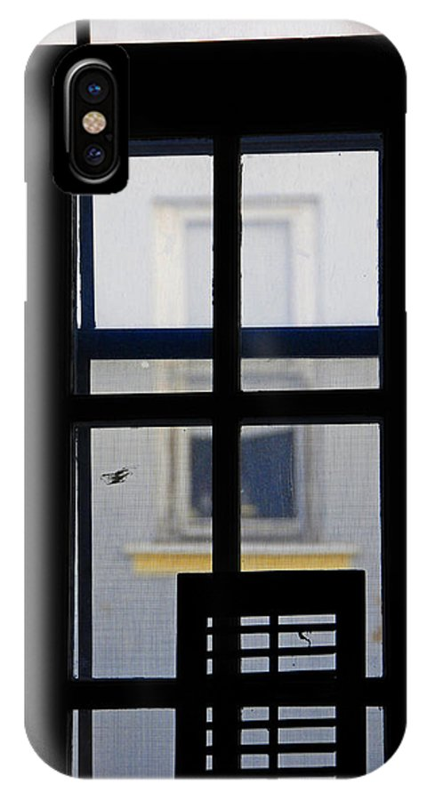 Architecture IPhone X Case featuring the photograph Rear Window 2 by Skip Hunt
