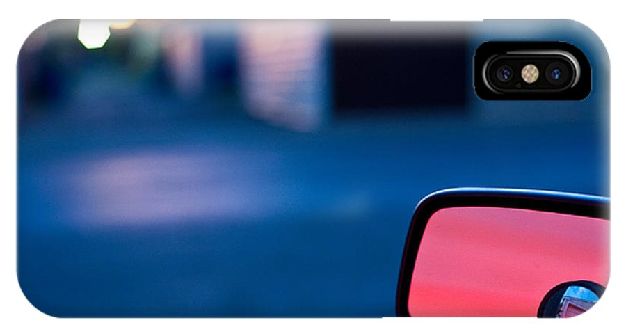 Car Mirror IPhone X Case featuring the photograph Rearview Mirror by Steven Dunn