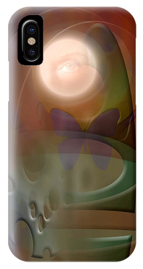 Abstract IPhone X Case featuring the digital art Rebirth by Stephen Lucas