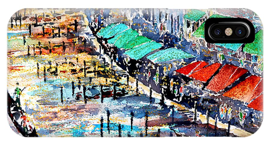 IPhone X Case featuring the painting Recalling Venice 02 by Almo M
