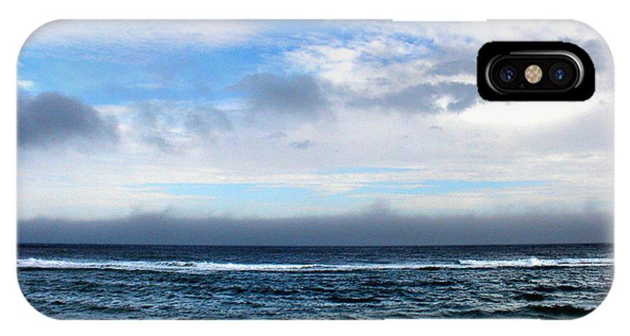 Seascape IPhone Case featuring the photograph Receding Fog Seascape by Steve Karol