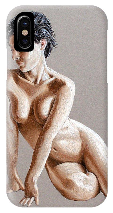 Joe Ogle IPhone Case featuring the painting Reclining Figure by Joseph Ogle