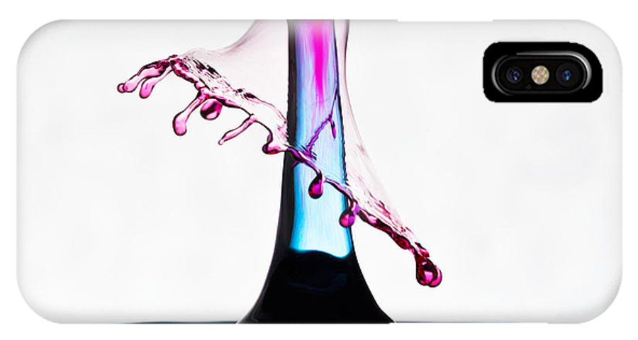 IPhone X Case featuring the photograph Red And Blue Collision by Alapati Gallery
