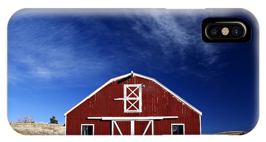 Americana IPhone Case featuring the photograph Red And White Barn by Marilyn Hunt