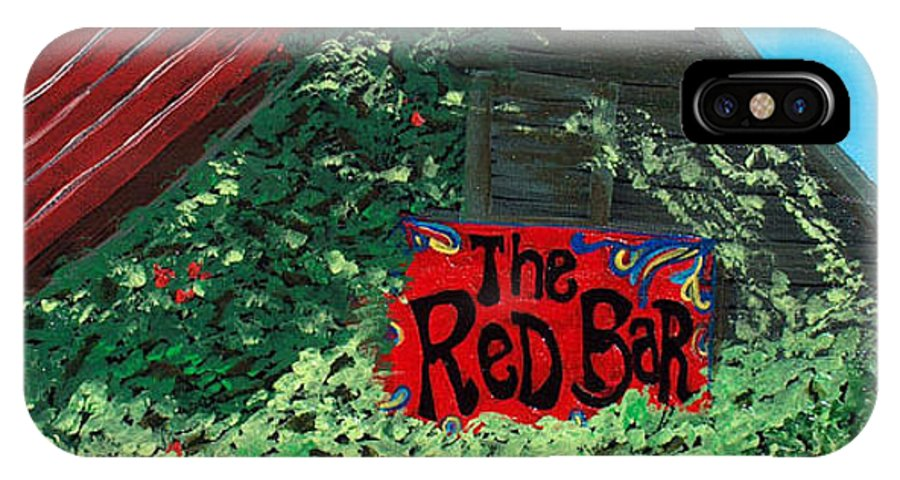 Red Bar IPhone X Case featuring the painting Red Bar - Grayton Beach by Racquel Morgan