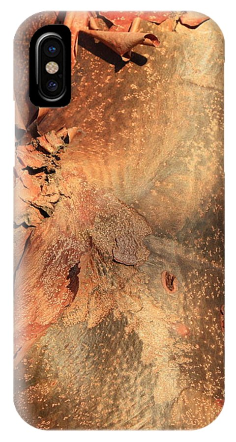 Nature Abstract IPhone X Case featuring the photograph Red Bark Nature Abstract by Carol Groenen
