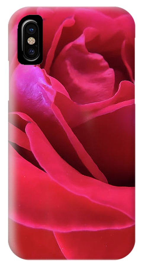 Rose IPhone X Case featuring the photograph Red Beauty by Zina Stromberg