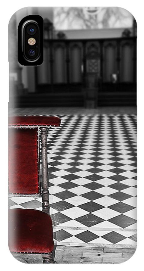 Beamish IPhone X Case featuring the photograph Red Chair by Svetlana Sewell