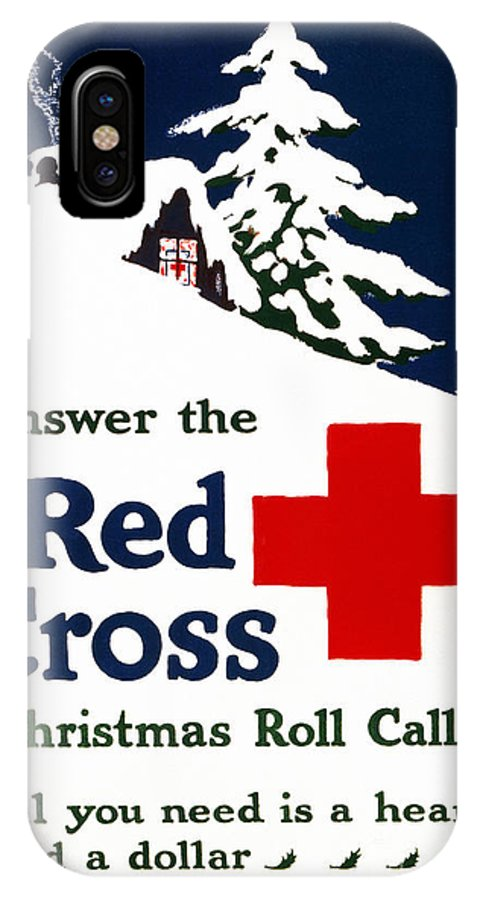 1915 IPhone X Case featuring the photograph RED CROSS POSTER, c1915 by Granger