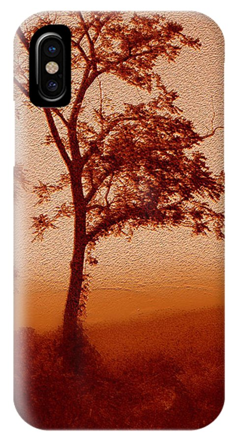 Red Dawn IPhone X / XS Case featuring the photograph Red Dawn by Linda Sannuti