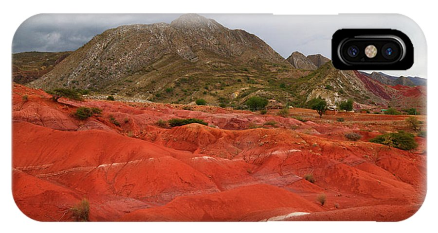 Bolivia IPhone X Case featuring the photograph Red Desert Landscape Torotoro National Park Bolivia by James Brunker