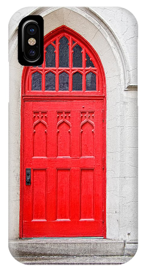 Door IPhone X Case featuring the photograph Red Door by Christopher Holmes