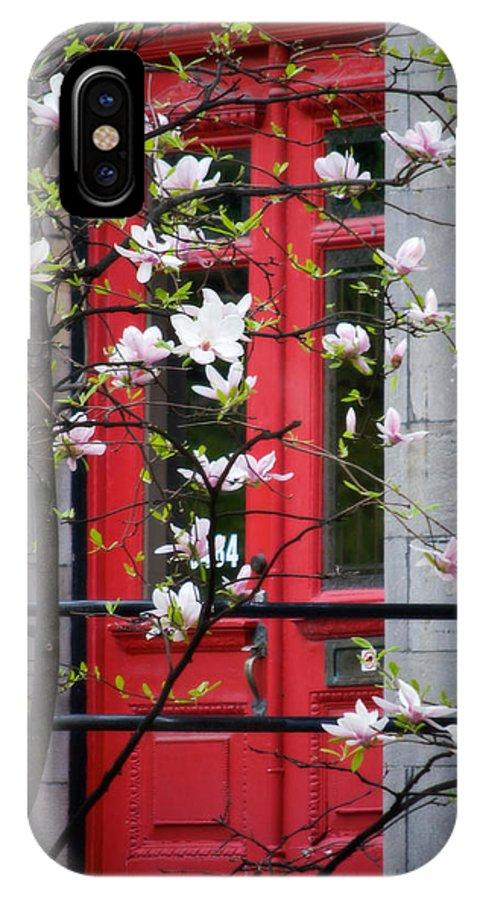 Red Door IPhone X Case featuring the photograph Red Door by Lisa Knechtel