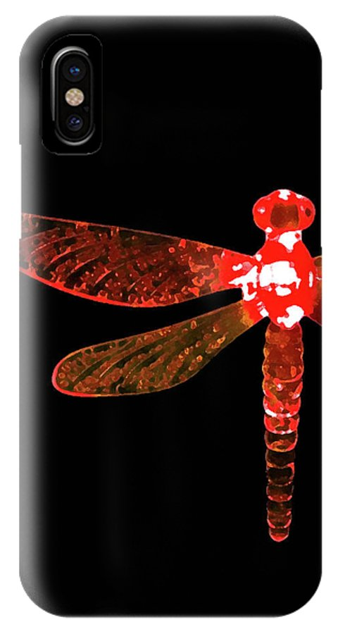 Red Dragonfly IPhone X Case