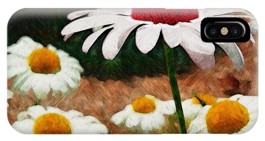 Ebsq IPhone X Case featuring the photograph Red Eyed Daisy by Dee Flouton