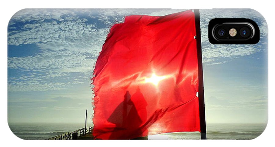 Mark Lemmon Cape Hatteras Nc The Outer Banks Photographer Subjects From Sunrise IPhone X Case featuring the photograph Red Flag Warning Sunrise 3 9/30 by Mark Lemmon