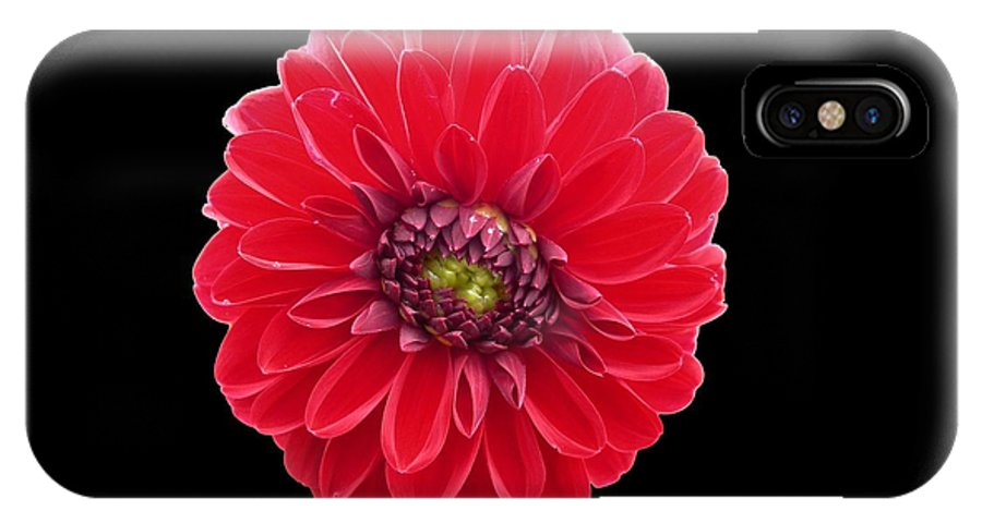 Red IPhone X Case featuring the photograph Red Fleur by Sheryl R Smith