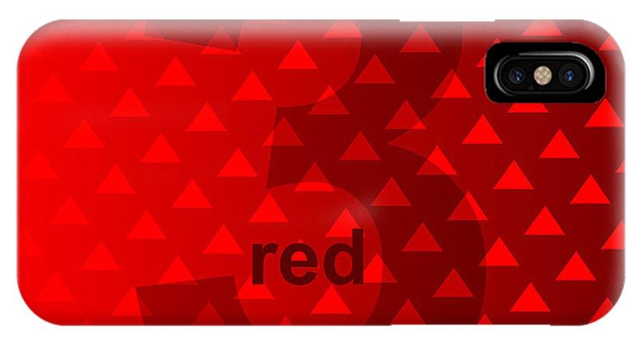Three IPhone X Case featuring the digital art Red God Three by Maciej Mackiewicz