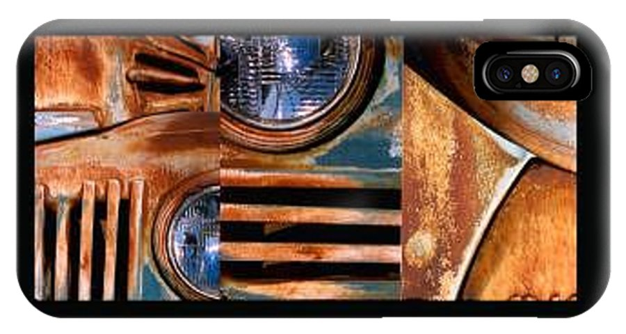 Abstract Photo Of Chevy Truck IPhone X Case featuring the photograph Red Head On by Steve Karol