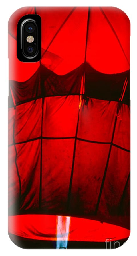 Balloon IPhone X Case featuring the photograph Red Hot Air Balloon by Thomas Marchessault