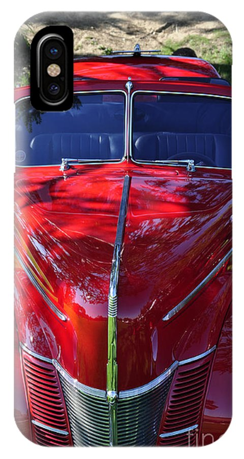 Clay IPhone X Case featuring the photograph Red Hot Rod by Clayton Bruster