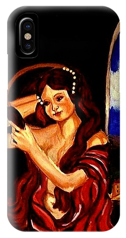 Renaissance IPhone X Case featuring the painting Red Letter Day by Rusty Gladdish