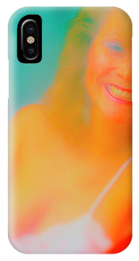 Railroad IPhone X Case featuring the photograph Red Lips by Jan W Faul