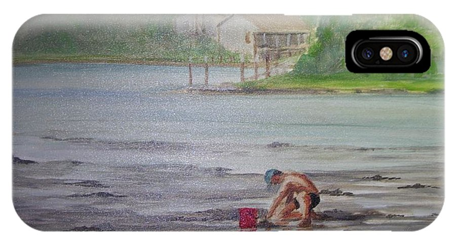 Seashore IPhone Case featuring the painting Red Pail 11 by Perrys Fine Art