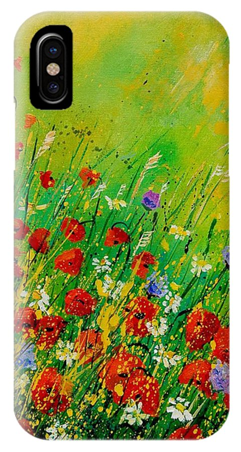 Flowers IPhone Case featuring the painting Red Poppies 450708 by Pol Ledent