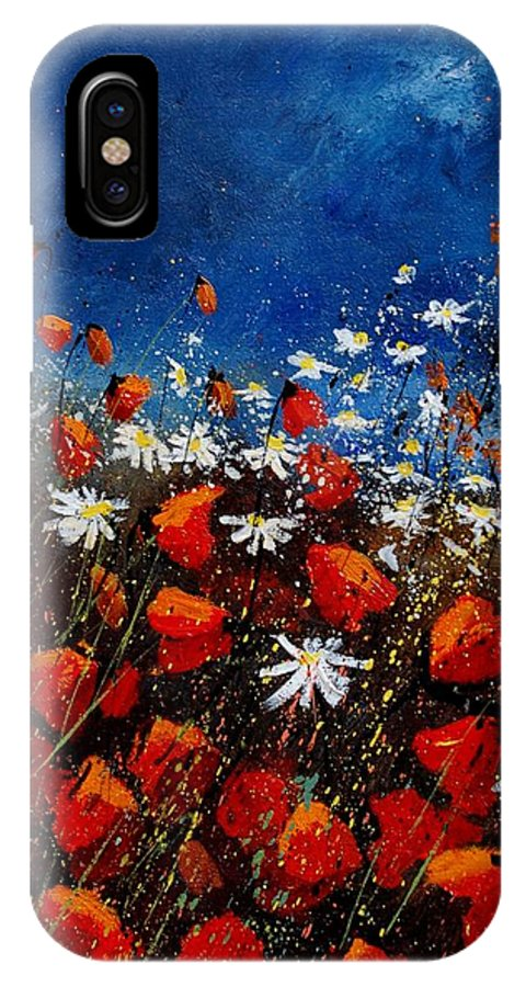 Flowers IPhone Case featuring the painting Red Poppies 451108 by Pol Ledent