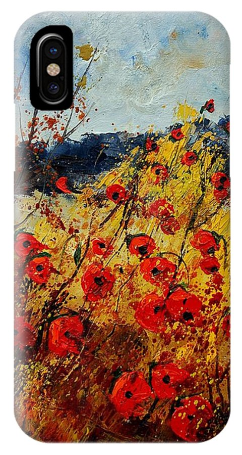 Poppies IPhone Case featuring the painting Red Poppies In Provence by Pol Ledent