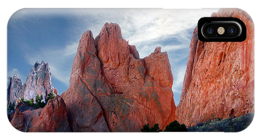 Garden Of The Gods IPhone X Case featuring the photograph Red Rock by Anthony Jones