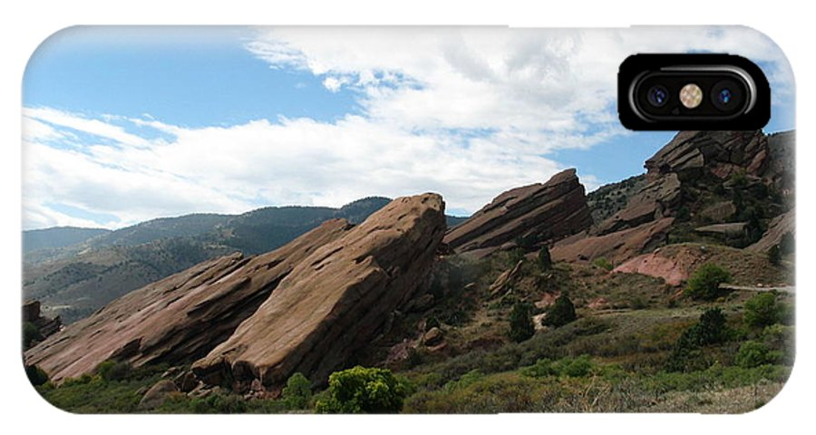 Red Rocks IPhone X Case featuring the photograph Red Rocks Denver by Margaret Fortunato