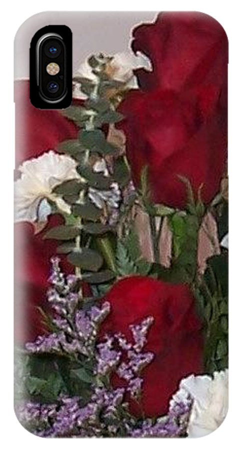 Red IPhone X Case featuring the photograph Red Rose Bouquet by Tina Barnash