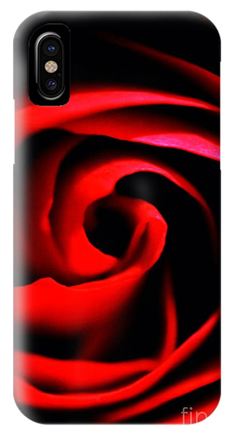 Red Rose IPhone X Case featuring the photograph Red Rose by Thomas R Fletcher