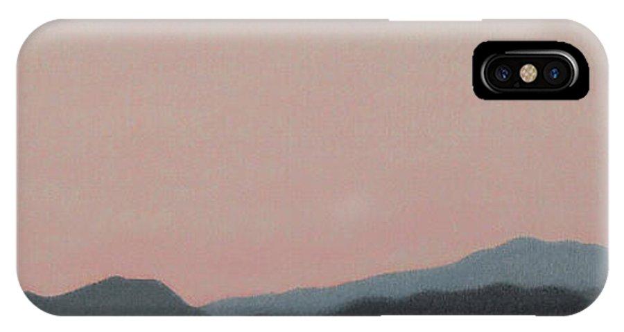 San Jacinto Mountain Range IPhone X / XS Case featuring the painting Red San Jacintos by Stan Magnan