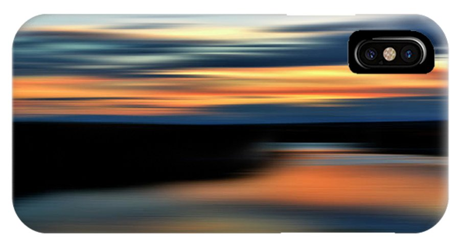 Red Sky IPhone X Case featuring the digital art Red Skies by Colin MacDonald