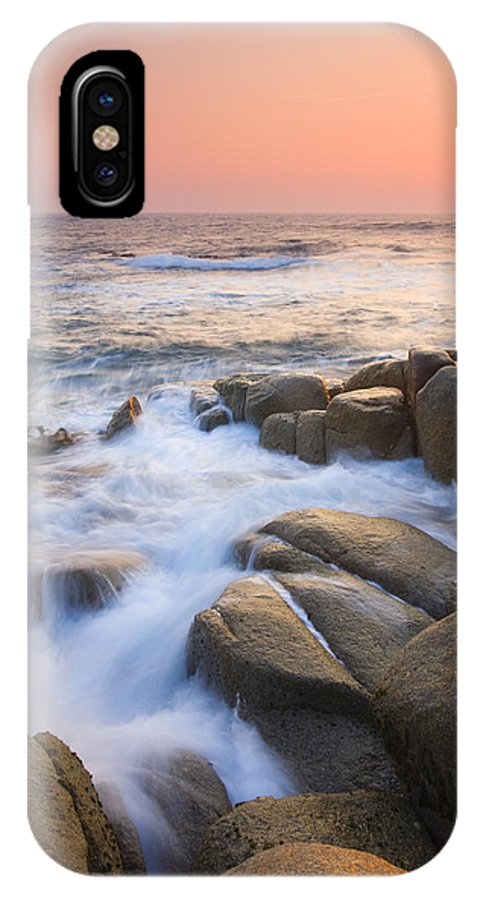 Sunrise IPhone X Case featuring the photograph Red Sky At Morning by Mike Dawson