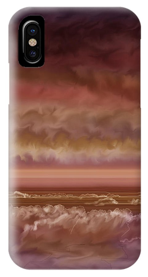 Sunset IPhone X Case featuring the painting Red Sky At Night Sailor Delight by Anne Norskog